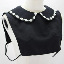 Decoration Diamond Black Lead Doll Dickie Detachable Fake Collar Necklace Shirt Women(China)
