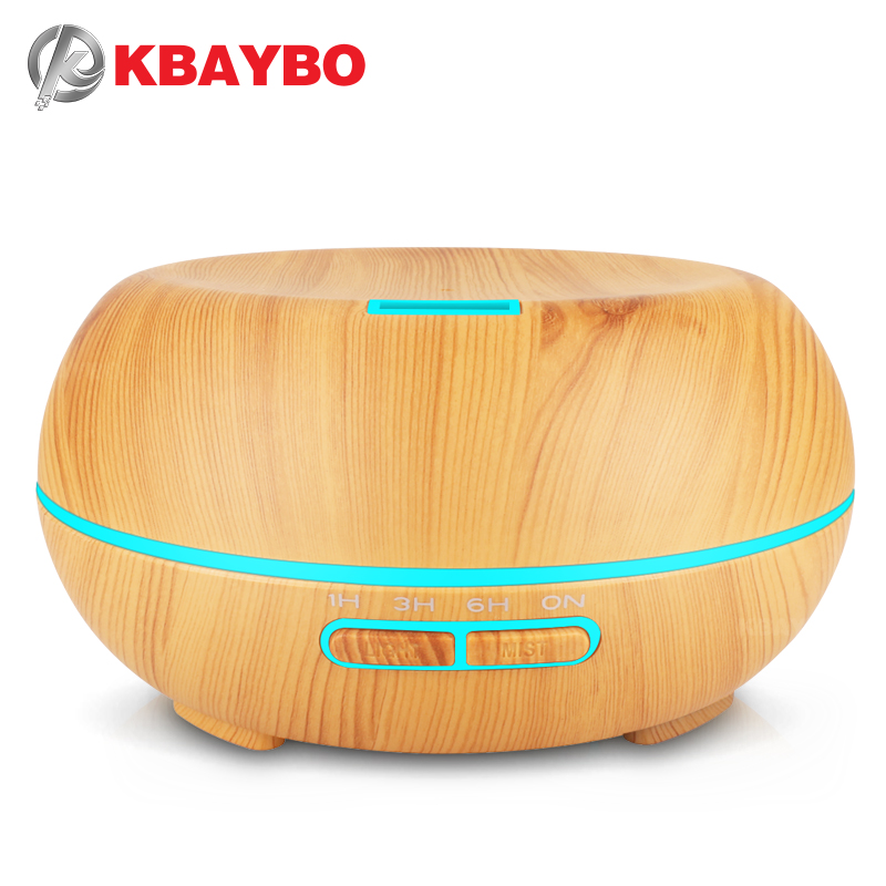 KBAYBO 200ML Ultrasonic Cold Mist Air Purifier Aromatherapy Essential Oil Humidifying Diffuser With 7 Color LED Lights