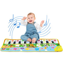 Kids Multifunctional Animal Piano Musical Mat Instrument Cartoon Pattern Keyboard Playing Rug Educational Toys for Children