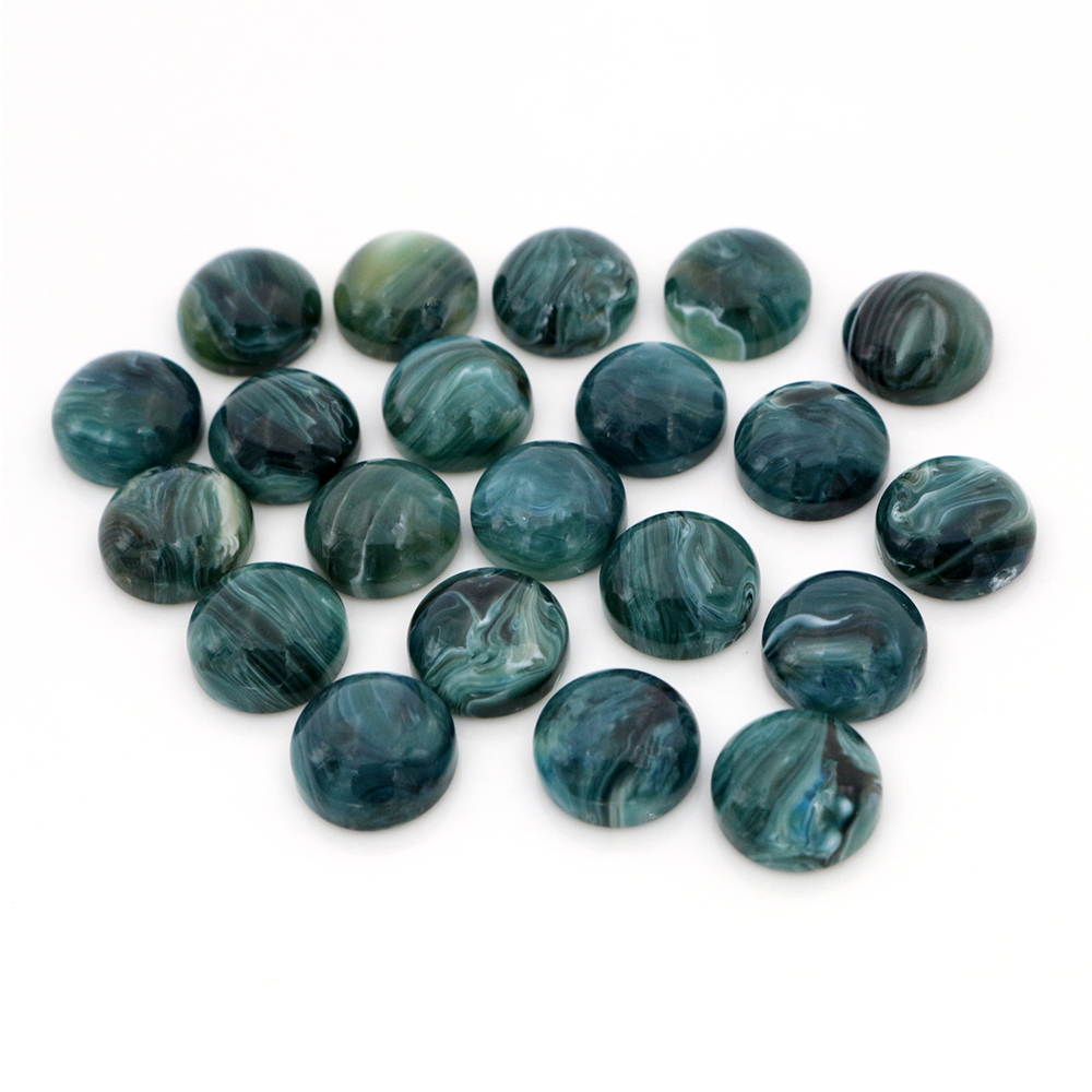 New New New! 40pcs/Lot 12mm Marble Colors Flat Back Resin Imitation Marble Cabochons Fit 12mm Cameo Base Cabochons Z6-10