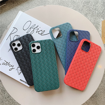 Breathable Mesh Case for IPhone 12 11 Pro Max 12 Mini XS 6S 7 8 Plus X XR Leather TPU Weaving Cover IPhone11 Silicone Funda Case image