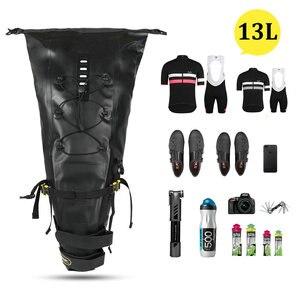 Image 3 - Rhinowalk 10L 13L Volledige Waterdichte Fiets Zadeltas Road Mountainbike Fietsen Rear Rack Bag Bagage Fietstas Fiets Accessoires