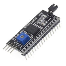 Adaptador de placa iic i2c twi spi, porta de interface serial 1602 2004 lcd lcd1602 pcf8574