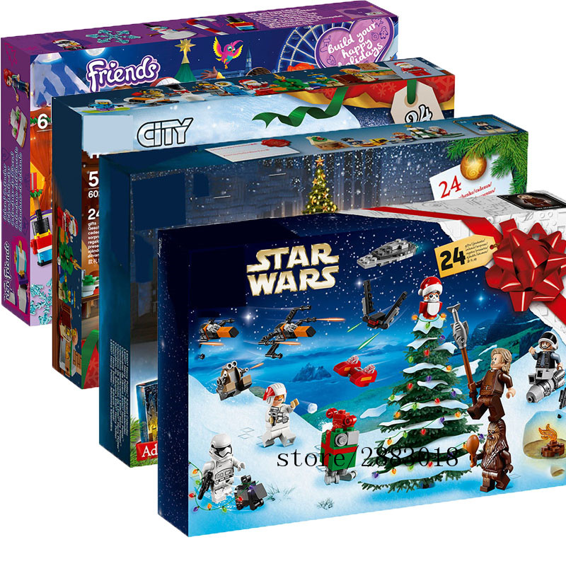 New Star Wars City Advent Calendar Girl Friends Set Building Block Bricks Toys Christmas Xmas Gift With 75245 75964 60235 image