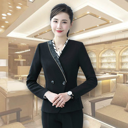 Autumn winter hotel catering Lao fengxiang gold shop overalls hotel front desk professional suit