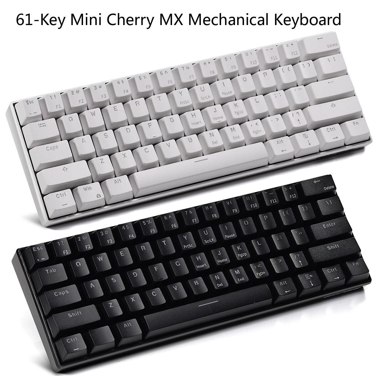 Hello Ganss Mini Bàn Phím Cơ Switch Cherry MX Nhỏ Gọn 61 Phím Có Dây USB C  Cho Chơi Game Và Văn Phòng Sử Dụng (QWERTY Bố Cục)|Keyboards