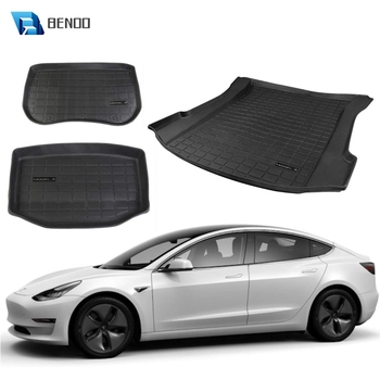 BENOO Customized TPE Waterproof Trunk Mat Front Box Mat For Tesla Model 3 Car Rear Trunk Storage Mat Cargo Tray Trunk Protective hot car front trunk storage mat cargo tray trunk waterproof protective pads compatible for subaru xv forester outback 2019