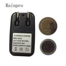 Rainpro 1 مجموعة/وحدة (2 قطعة LIR2032 + 1 قطعة شاحن) 3.6 فولت قابلة للشحن عملة خلية بطارية ليثيوم