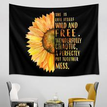 waterfall mountain rock natural scenery print tapestry wall hanging real effect lifelike bohemian wall blanket hippie carpets Sunflowers Tapestry Floral Yellow Flower Tapestry Wall Hanging  Black Backdrop Decor Hippie Tapestries Wall Carpets Blanket