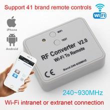 Universal RF conversor WIFI para controle remoto 300 868mhz Android IOS WI FI RF controle remoto 433mhz 868mhz 330mhz 315mhz Universa