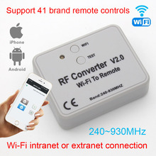 Universal RF converter WIFI to remote control 300 868mhz Android IOS RF WIFI remote control 433mhz 868mhz 330mhz 315mhz Universa
