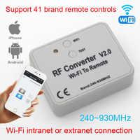 Universal RF konverter WIFI zu fernbedienung 300-868mhz Android IOS RF WIFI fernbedienung 433mhz 868mhz 330mhz 315mhz Universa