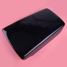 DWCX Interior Black Carbon Fiber Style Car Center Console Armrest Box Panel Cover Trim Plastic Fit For Honda Accord 2018 цены