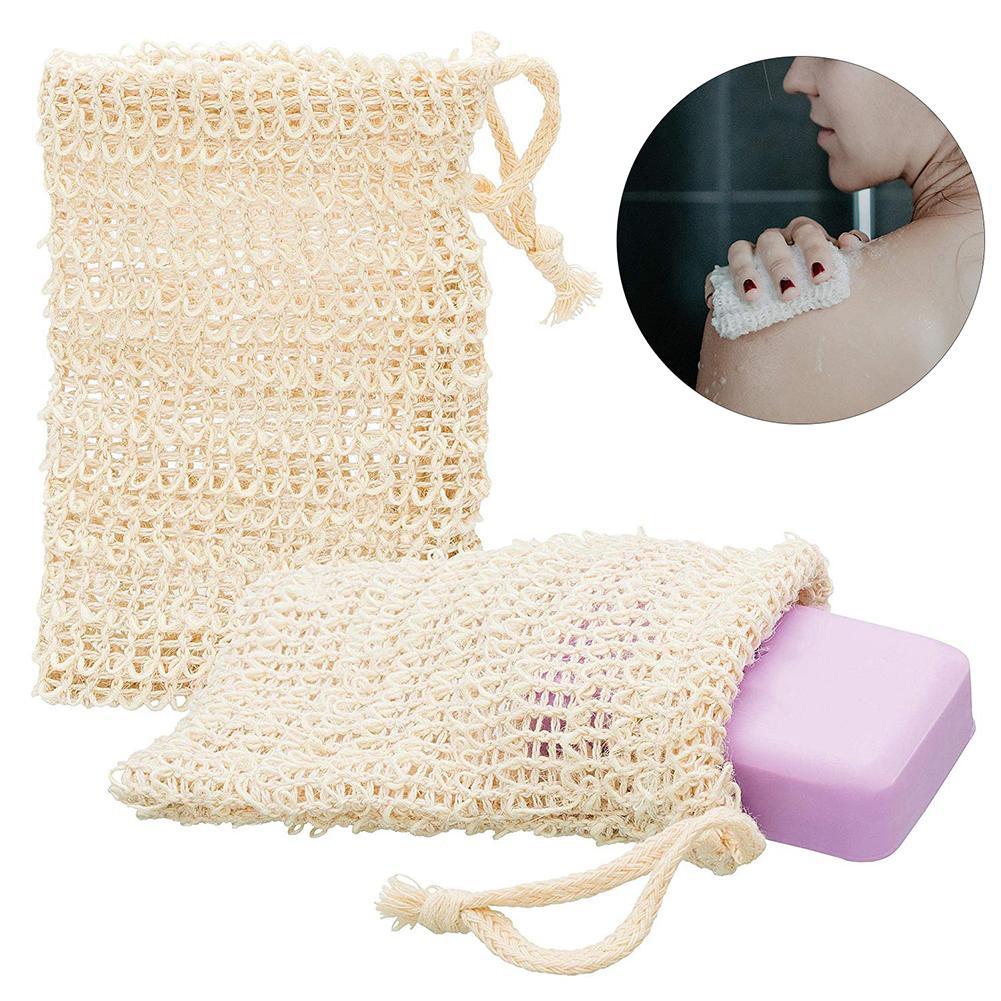 Reusable Drawstring Washable Massage Sponge Soap Bag Foaming Net Mesh Pouch Bath Shower Soap Blister Bubble Mesh Skin Care