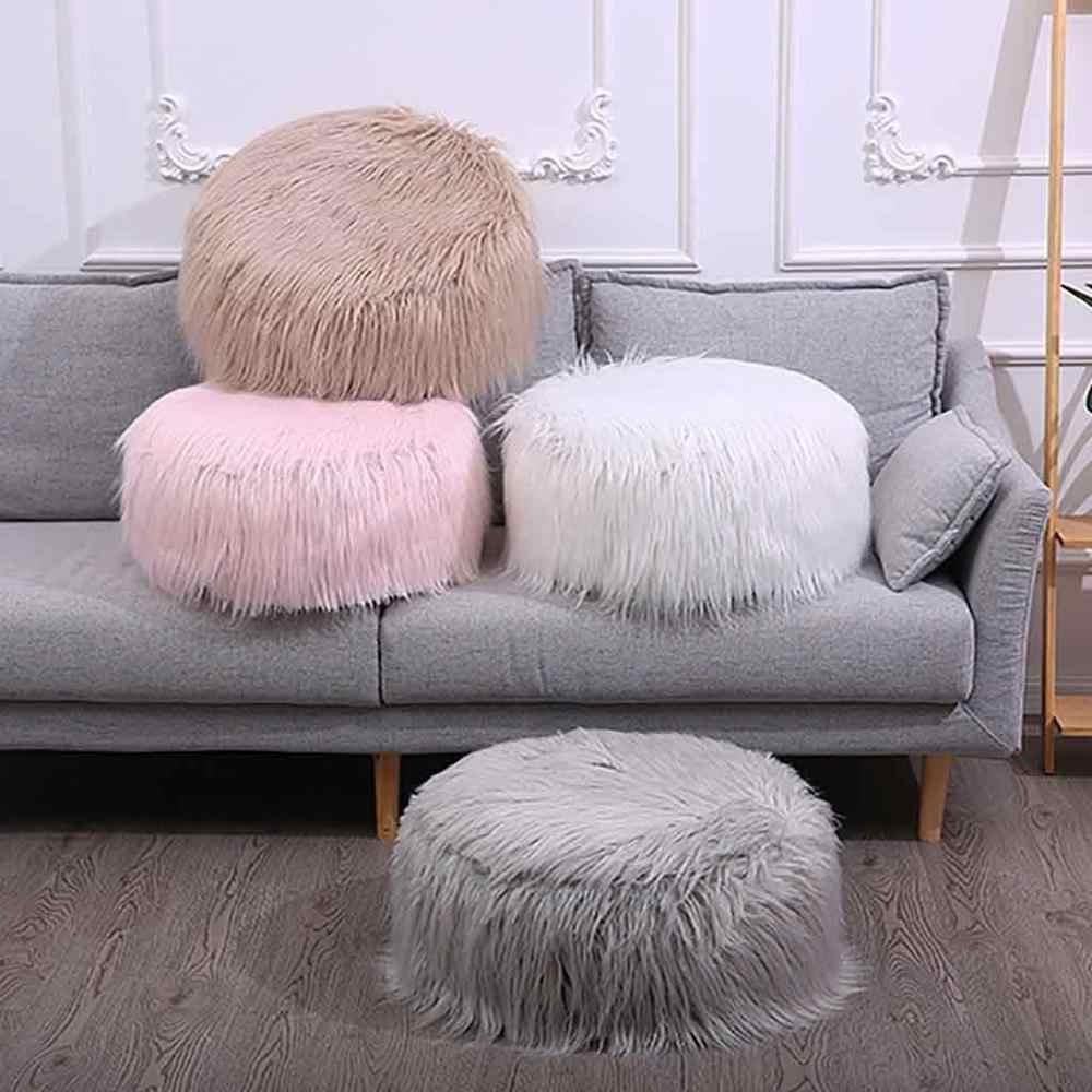 decorative stools for living room.htm stool nordic wind plush pillowcase round ottoman futon mat  plush pillowcase round ottoman futon