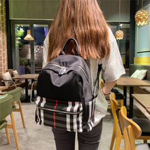 New backpack trend Korean version of simple and stylish Joker womens bags large capacity casual backpacks