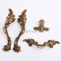 Hotsale 5Pair or 10PCS Furniture Handles European Antique Drawer Wardrobe Cupboard Kitchen Cabinet Door Pulls Handles and Knobs