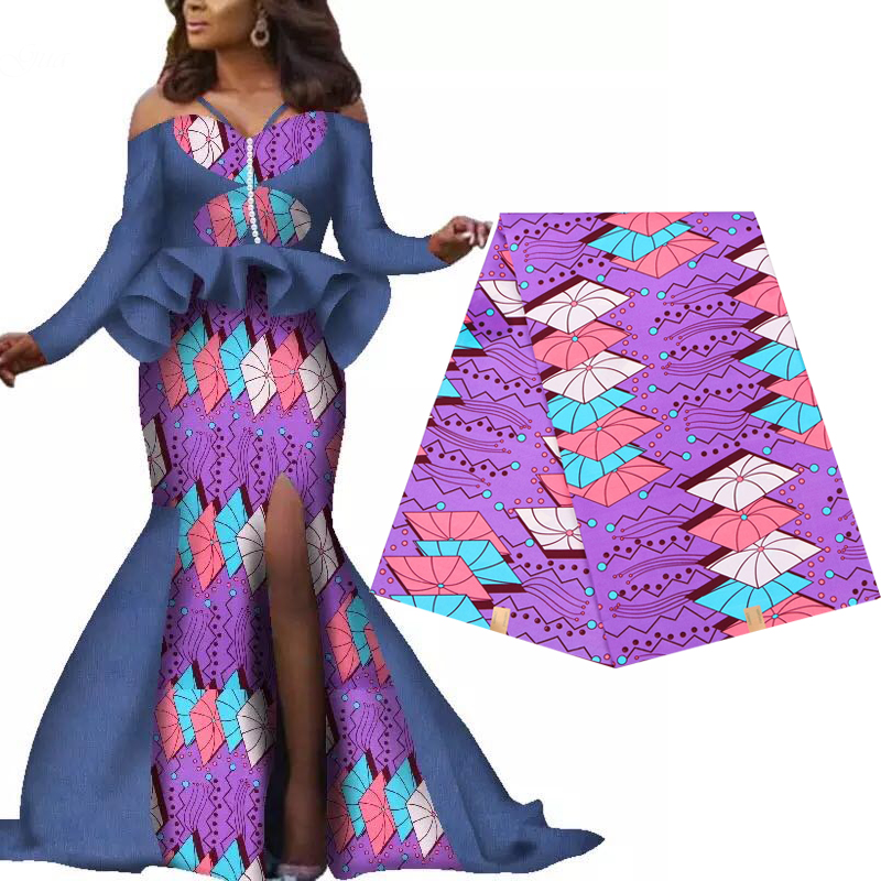 1Yard Polyester Ankara Africain Prints Patchwork Dress Sewing Tissu Accessories Material For Wedding Real Dutch Wax High Quality