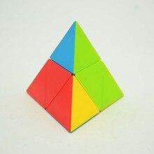 [Музыка вечерние второго заказа пирамиды] 2-заказ треугольные многоцветные Стразы «Кубик Рубика»-Стиль детское раннее детства развивающая игрушки