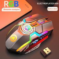 A5 rgb sem fio mouse usb gaming mouse 2.4 ghz esports backlit silencioso bluetooth ratos 7 botões 1600 dpi para notebook desktop