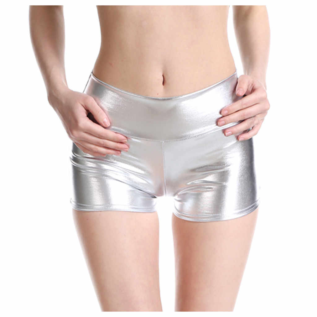 Pole Dance shorts Sexy Vrouwen Metallic Shorts Shiny Bodems Dansen Kostuums Lederen Hot Shorts Pole Wear dropshipping # y3