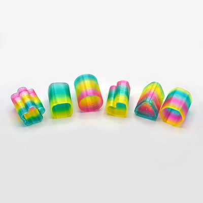 24 pçs/lote Primavera Rainbow Magic Rainbow Spring Crianças Coloridas de Plástico Engraçado Brinquedo Clássico Pequeno brinquedo para crianças