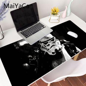 Alfombrilla de ratón XXL para videojuegos de Star Wars de 90x40cm, alfombrilla de ratón grande de goma XL para escritorio, teclado, alfombrilla de ratón para jugador para co go overwatch
