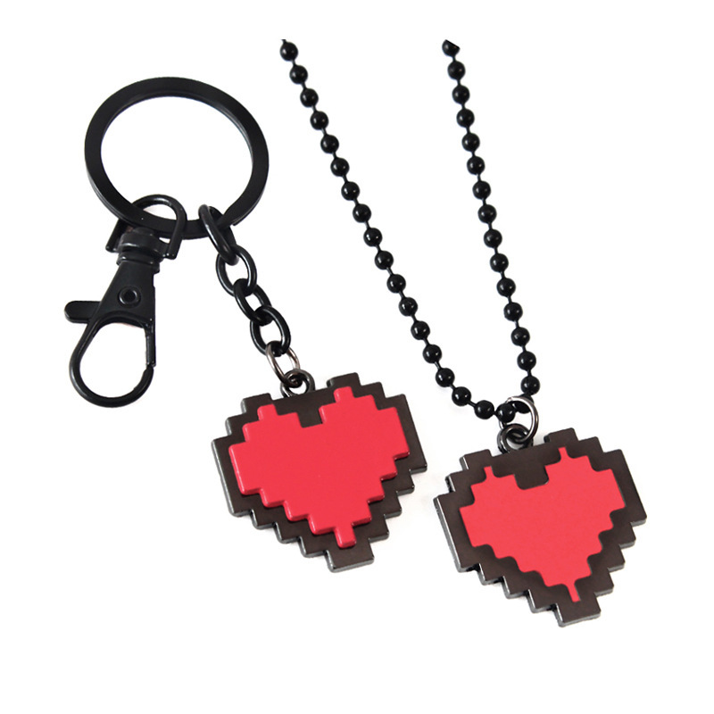 Game Undertale Keychain Red Heart Shaped Key Chain Pendant Jewelry Accessories Fashion Personalized Cartoon Anime Sleutelhanger