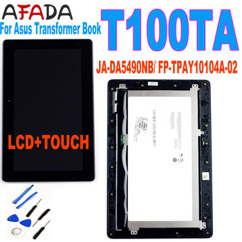 For Asus Transformer Book T100 T100TA-C1-GR T100T 5490NB LCD Display Touch Screen Digitizer Assembly with Frame FP-TPAY10104A-02 original touch screen digitizer with frame for asus transformer pad tf700 tf700t tcp10d47 v0 2 version 100% working perfectly