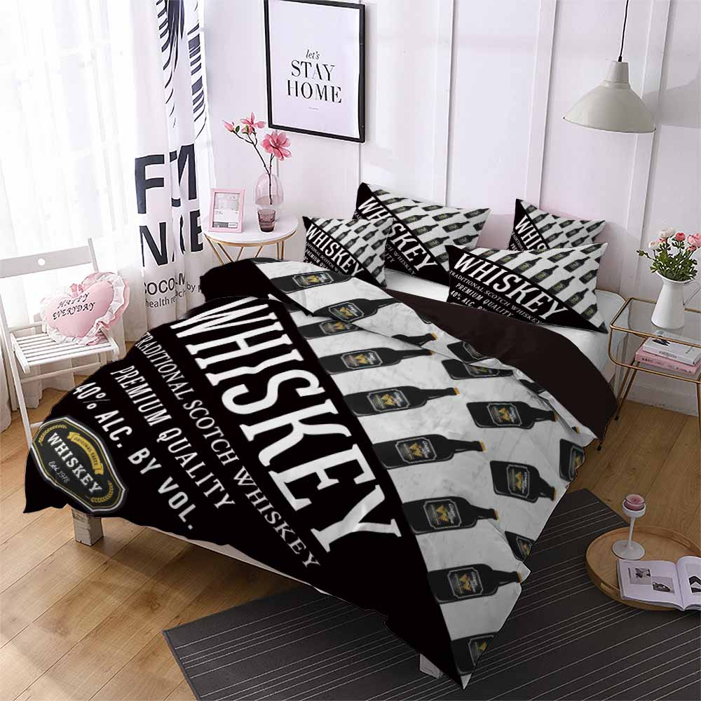 2019 New Whisky Black White Duvet Cover Set Twin Full Queen King Custom Home Comforter Set Soft Bedding Set For Boys Girls Teen Bedding Sets Aliexpress