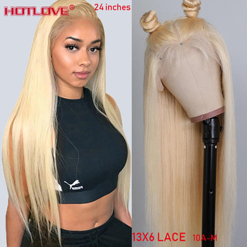 Brazilian 613 Blonde Straight Lace Front Human Hair Wigs 13x6 Transparent Lace Front Wigs For Women With Baby Hair Remy Hair