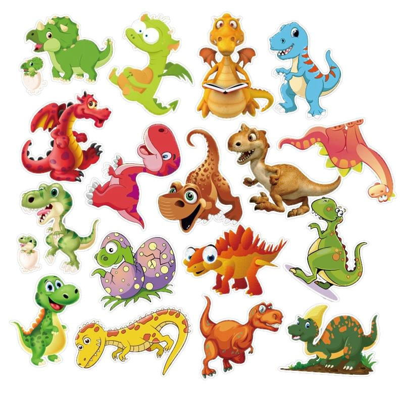 10/30/50pcs Pack Cartoon Animal Dinosaur Stickers Waterproof PVC Skateboard Luggage Car Guitar Motorcycle Funny Sticker Kids Toy