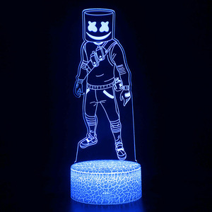 Image 3 - Fortress Night 3D illusion Action Figure Lamp Knight Yond3r Ice King Battle Royale Figurine Light Up Toys Kids Sleeping Light