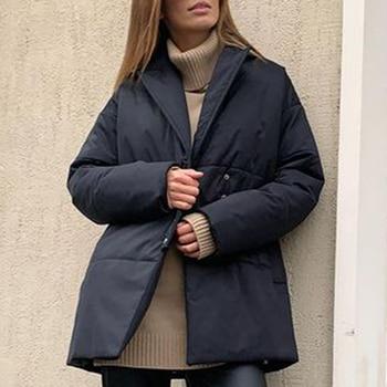 Fandy Lokar Single Breasted Blazers Women Fashion Notched Tie Belt Jackets Women Elegant Pockets Long Sleeve Suits Female Ladies