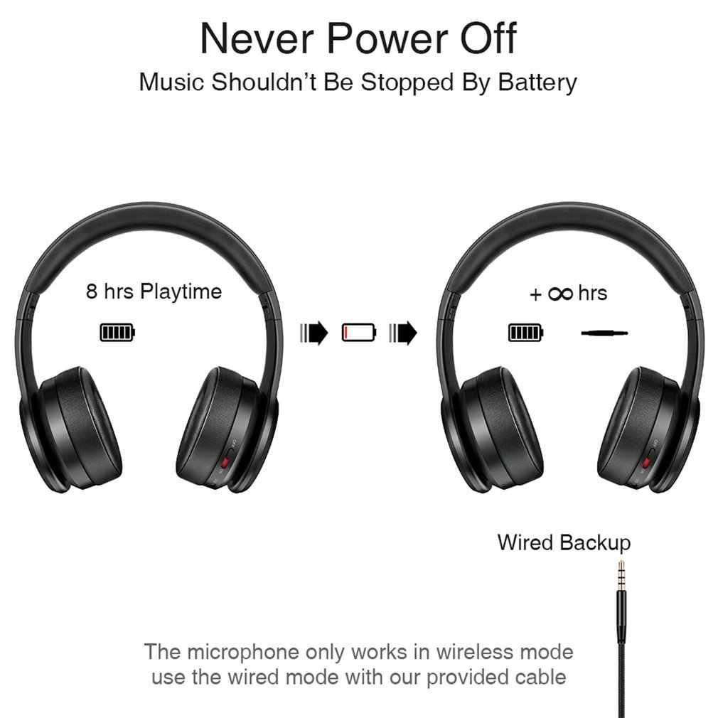 Casque sans fil Bluetooth P26 casque Long Hi-Fi stéréo sans fil casques basse profonde pliable sans fil écouteurs avec micro