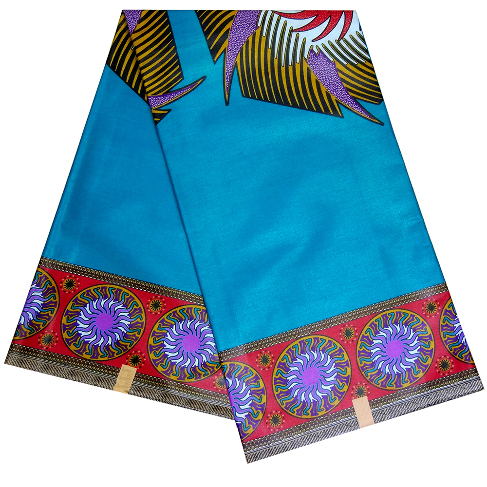 New Coming Print Cotton Material African Wax Fashion Design Sky-Blue Color Fabric African Fabric