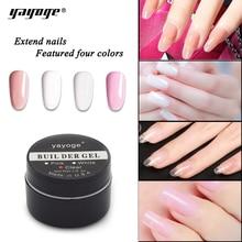 Yayoge 15G 56G Uv Gel Poly Acryl Gel Builder Gel Cover Roze Camouflage Kristal Voor Nagels Extensions Arts