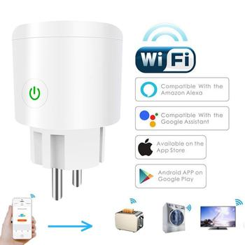10/16A EU Smart Home Plug Wireless WIFI Remote Control Socket Voice Control Smart Power Socket Support Alexa Google Home