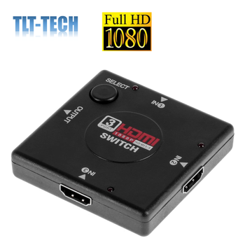 wiistar 4k mini 3 port hdmi switcher hdmi splitter hdmi port for smart android hd 1080p 3 input to 1 output free shipping 3-Port HDMI Switch G-Shield 3 Port HDMI v1.4 Switcher Selector Auto Splitter 3x1 Hub Box 3 Input 1 Output Full HD 1080p