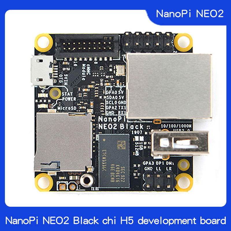 Friendly NanoPi NEO2 Black Chi H5 Development Board All Four 64 - Bit Ubuntu A53 Gigabit Network