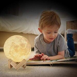 Дропшиппинг 3D печать галактика луна лампа ночник USB Перезаряжаемый креативный домашний декор Глобус спальня Lover детский подарок