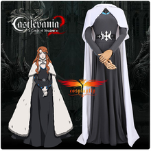 Anime Castlevania Lenore Cosplay Costume Outfit for Women Maxi Gown for Party Floor Length Muslim Dress Cloak Carnival Halloween