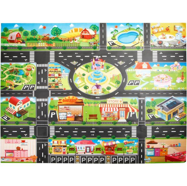 Large City Traffic Car Park Mat Play Kids Rug Developing Baby Crawling Mat Play Game Mat Large City Traffic Car Park Mat Play Kids Rug Developing Baby Crawling Mat Play Game Mat Toys Children Mat Playmat Puzzles GYH