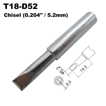 T18-D52 Soldering Tip Screwdriver 5.2mm 0.204 Fit HAKKO FX-888 FX-888D FX-8801 FX-600 Lead Free Iron Bit Handle Welding Nozzle image