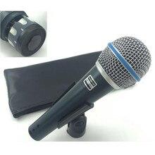 Microfone super cardioid com fio dinâmico, microfone profissional beta58a beta58a 58 a, microfone para karaoke e microfone