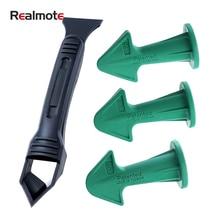 Realmote 4-piece Set Shovel Glue Scraper Glass Gluer Yin Angle Beautiful Seam Tool kit Device Combination