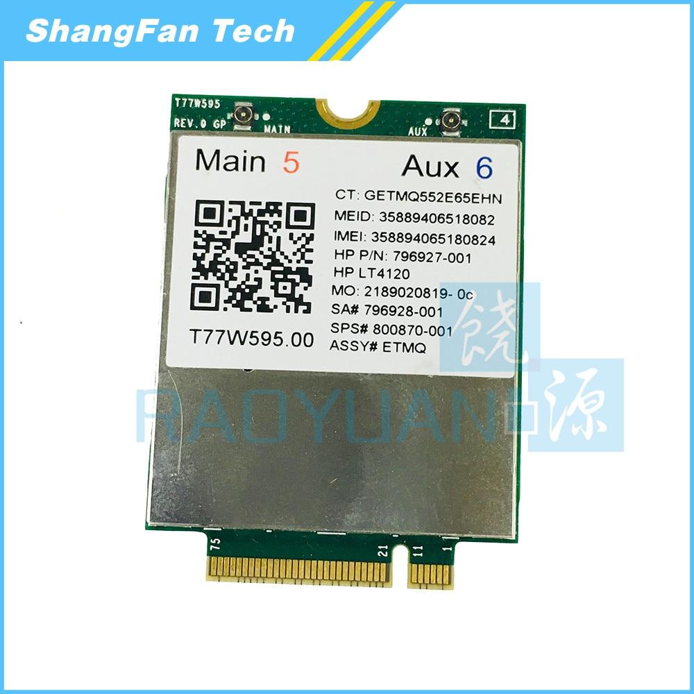 T77W595 LT4120 796928-001 4G WWAN M.2 150Mbps LTE Modem For HP Elitex2 840 850 G3 640 650 645 G2 Fasterthan ME906E ME936