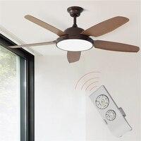 52 Polegada ventiladores de teto do vintage com luz quarto casa ventilador 220v ventilador de teto com controle remoto ventilador de teto