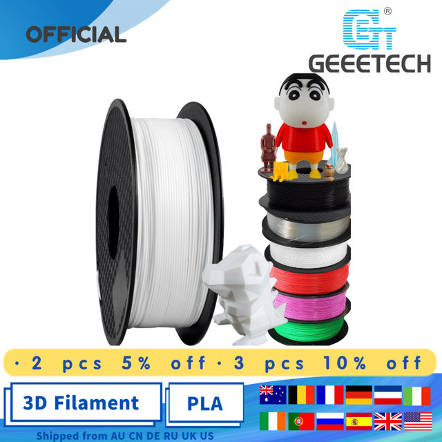 Geeetech 1kg 1.75mm PLA Filament 3d print Vacuum Packaging Overseas Warehouses A Variety of Colors for 3D Printer Filament PLA