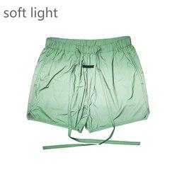 Лучшая версия радужных зеленых нейлоновых шорт с сетчатой подкладкой; Спортивные шорты Kanye West; Уличная одежда